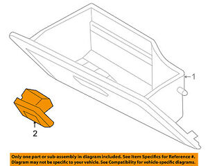 Gm Oem glove Compartment Box Lock 96457701