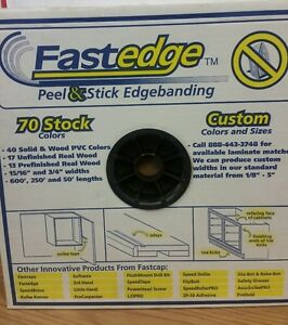 Fastedge Peel Stick Edgebanding 15 16 White Birch 250 Fe sw 15 16 250 wb New