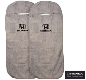 Seat Armour Universal Grey Towel Front Seat Covers For Honda pair