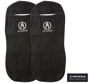 Seat Armour Universal Black Towel Front Seat Covers For Acura Pair