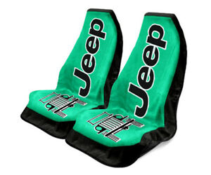 Seat Armour Universal Green Towel 2 Go Front Seat Covers For Jeep Wrangler pair