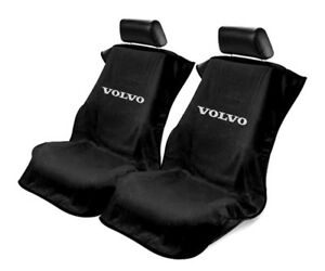 Seat Armour Universal Black Towel Front Seat Covers For Volvo Pair
