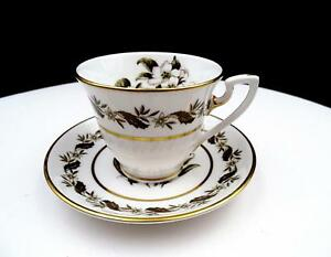 Royal Worcester Z2164 Bernina White Flowers 2 5 Demitasse Cup
