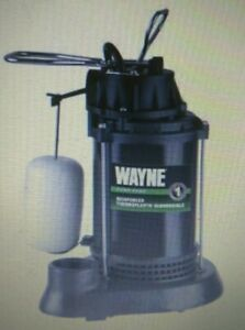 New Wayne 1 2 Hp 4300 Gal Per Hr Epoxy Coated Thermoplastic Reinforced Sub Pump
