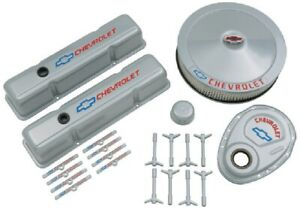 Proform 141 360 Bowtie Gray Engine Dress Up Kit Fits Small Block Chevy Engines