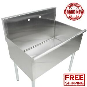 36 36 X 24 X 14 Bowl Stainless Steel Commercial Utility Prep 1 Sink