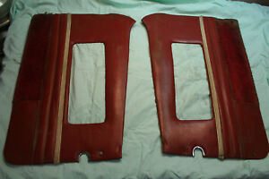 Mg Mga Vintage Red Door Panel Assemblies