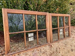 2 28 X 23 Matching Vintage Window Sash Old 6 Pane From 1960s Arts