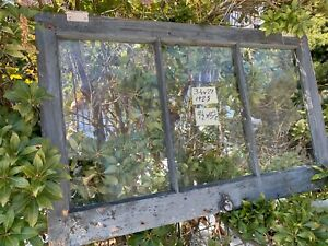 Antique Vintage Basement Window Sash 34 X 21 Old 3 Pane Arts Crafts