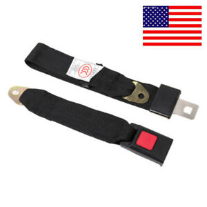 Us Car Seat Belt Lap 2 Point Safety Travel Adjustable Retractable Auto Universal