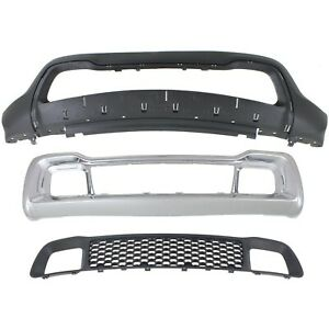 Bumper Cover Kit For 2014 2016 Grand Cherokee Front 3pc Textured