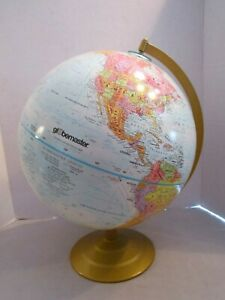 Vintage 1970s Globemaster 12 Diameter Globe Educational Earth On Stand