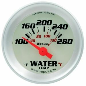 Equus 1 1 2 Inch White Faced Electrical Water Temperature Gauge Kit Equus 8162