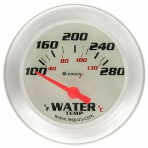 Equus 2 5 8 Inch White Faced Electrical Water Temperature Gauge Kit Equus 8462