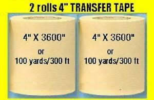 2 Rolls 4 Application Transfer Paper Tape 300 Ft Roll For Vinyl Plotter Cutter