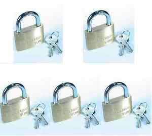 Lock Set By Master 4150ka lot Of 5 Keyed Alike Large 1 Wide Brass Body