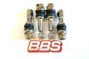4 Real Bbs 11mm opening Metal Valve Stems Bbs Logo Caps 56 15 006