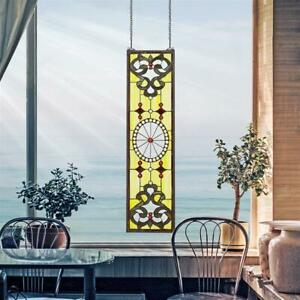 Design Toscano The Belvedere Tiffany Style Stained Glass Window