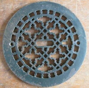 Antique 7 In Round Grate Cover Only Cast Iron