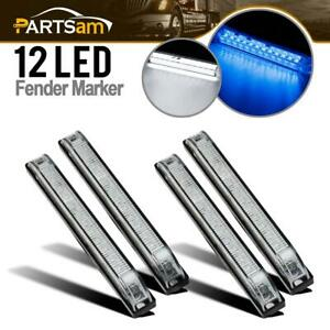 4x 6 12 Led Underwater Utility Strip Light Bar Led Marker Light Blue