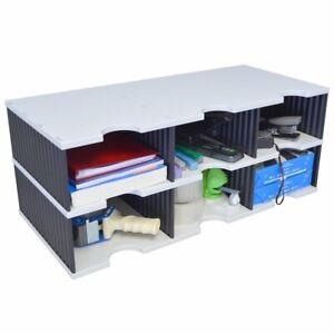 Ultimate Office Tierdrop Literature Organizer Sorter 6 compartment High wall