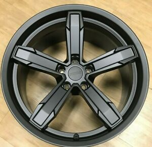 4 20x10 11 Iroc Z Staggered Satin Black Camaro Wheels Rims Fits For 10 19