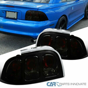94 98 Ford Mustang Smoke Lens Tail Lights Rear Parking Brake Lamps Left Right