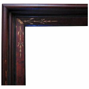 19th C Walnut Wood Picture Frame Victorian Aesthetic Eastlake 12 1 2 X 10 1 2