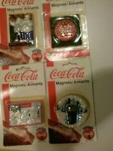 Coca Cola Magnets--(#1)Bears  (#2)Disc  (#3)Cubs & (#4)Glass--Choice
