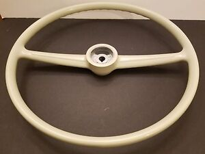 Vw Volkswagen Transporter Type 2 Bus Van Westy Stock Steering Wheel Beige Grey