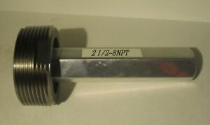 Thread Plug Gauge 2 1 2 8 Npt