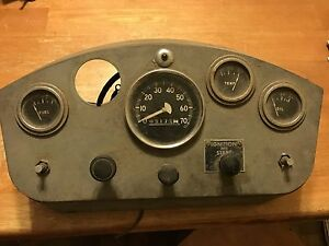 Vintage Rat Rod Hot Rod Dash Assembly Cluster Speedometer