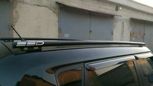 Ssd Stainless Steel Side Roof Rails Black Powdercoat Fits 2010 2013 Kia Soul