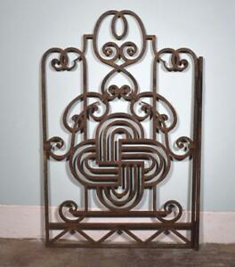 Large Antique French Wrought Iron Gate With Hinge Salvage