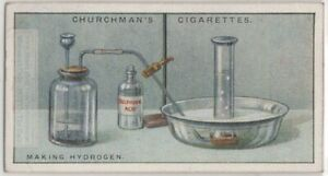 Making Hydrogen Science Chemistry Experiment 1920s Trade Ad Card
