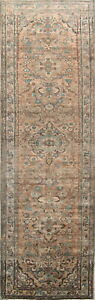 4x14 Antique Muted Lilian Persian Oriental Handmade Wool Distressed Runner Rugs