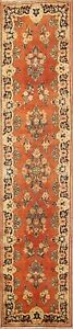 Antique Floral 13 Ft Runner Sarouk Mahal Persian Oriental Hand Knotted Rug 4x13