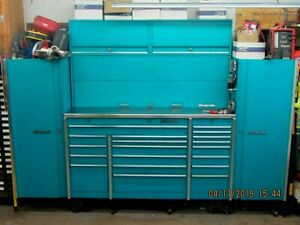 Snap On Work Station W Stainless Top Side Cabinets Upper Storage W Lights