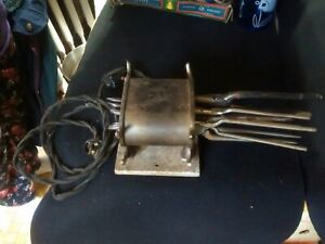 Antique Curling Iron Heater W 6 Curling Tongs Solar Electric Co