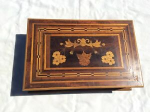 Antique Marquetry Sewing Box