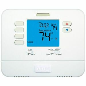 Vive Tp n 721 Non programmable Large Display Heat Pump Thermostat 2h 1c