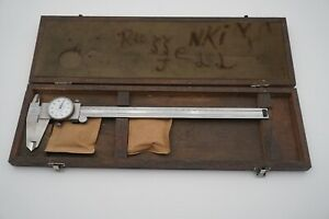 Mitutoyo 505 645 50 12 X 001 Dial Calipers 1 1 2 Face Made In Japan W Case