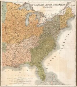 1886 Graf Map Of The United States