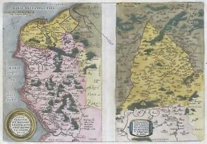 1579 Ortelius Map Of Calais And Vermandois France And Vicinity
