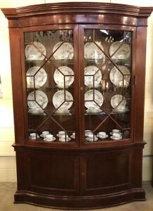 Bow Front Glass China Cabinet Baker Historic Charleston Collection