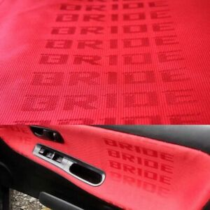 Red Bride Car Seat Fabric Cloth Racing Seats Cover Interior Decoration 1mx1 6m