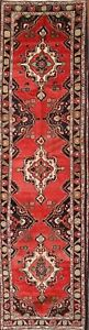 Hand Knotted Geometric Wool 4x14 Hamadan Persian Oriental Runner Rug Palace Size