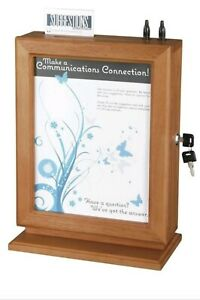 Safco Customizable Wood Suggestion Box In Cherry
