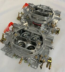 2 Edelbrock Carburetor 1405 600 Cfm 2x4 Super Charger 671