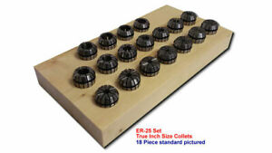 Er25 Ultra precision 18pc Collet Set 3 8 5 8 by 32nds 25 set18 inchup Free Ship